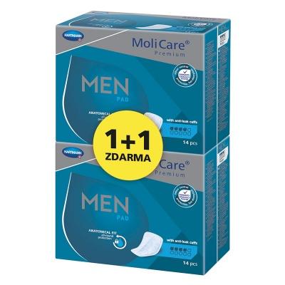 Pánské vložky na lehký únik moči MoliCare Men 4 kapky ve výhodném balení 1+1