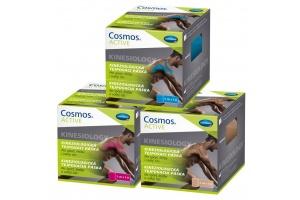 Kineziologické tejpovací pásky COSMOS Active ve 3 barvách