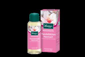 Masážní olej Kneipp Mandlové květy obsahuje přírodní mandlový a slunečnicový olej 100 ml