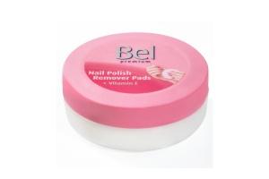 Odlakovací tampóny Bel Premium s vůní citrusů a vitaminem E pro jemné odlakování