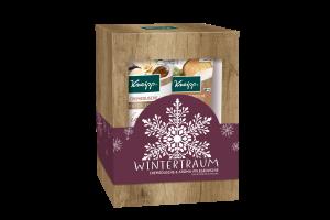 Sada sprchových gelů Kneipp Zimní sen obsahující kořeněné aroma, vanilku a bambucké máslo