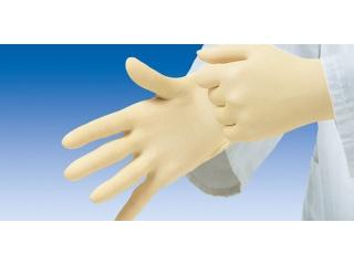 Nepudrované vyšetřovací rukavice vyrobené z přírodního latexu.
