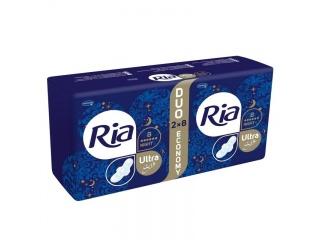 Menstruační vložky Ria Ultra Silk Night Duo Economy