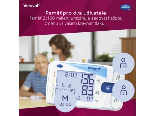Paměť pro 2 uživatele s tonometrem Veroval duo control