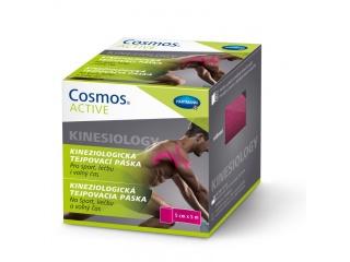 Růžová kineziologická tejpovací páska pro sport, léčbu i volný čas 5 cm × 5 m