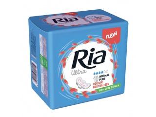 Dámské vložky Ria Ultra Normal Plus 10 Odour Neutraliser - s křidélky, se schopností pohlcovat zápach