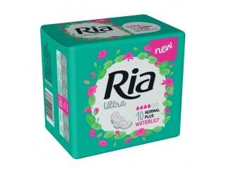 Dámské vložky Ria Ultra Normal Plus 10 Waterlily - s křidélky, s vůní