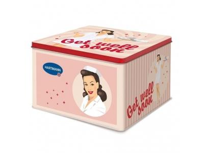 Domácí lékárnička v designovém plechovém obalu s pin-up girl