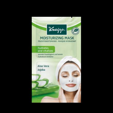 Pleťová hydratační maska Kneipp s výtažky z aloe vera a jojobového oleje