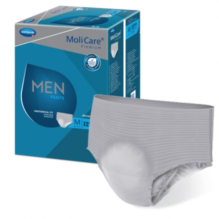 Pánské inkontinenční pomůcky MoliCare Men Pants 7 kapek pro střední a těžký únik moči