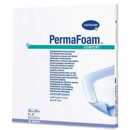 Perma Foam Comfort je hydrofilní polyuretanové krytí s pórovitou strukturou, které rychle a efektivně čistí ránu