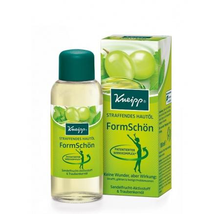 Tělový olej Kneipp na zpevnění pokožky z kvalitního oleje z hroznových jader a přírodních výtažků ze santalových plodů